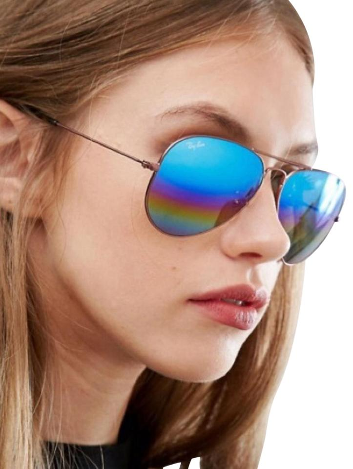 f894375117 Ray-Ban Rainbow Mirrored Aviator Sunglasses Image 0 ...
