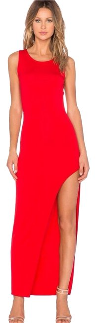 Item - Red Cross Back Maxi Long Cocktail Dress Size 4 (S)