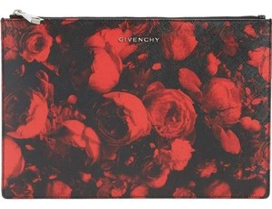 Givenchy Designer Red and Black Clutch