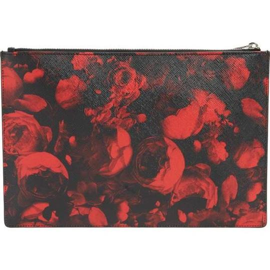Givenchy Designer Red and Black Clutch Image 1