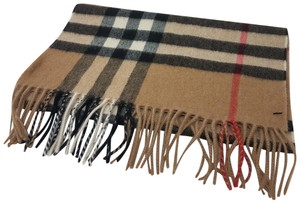 Burberry Beige multicolor Burberry Nova check cashmere scarf