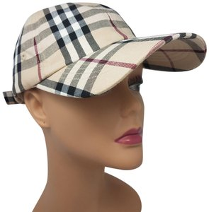 Burberry Beige multicolor cotton Burberry London Nova Check baseball cap