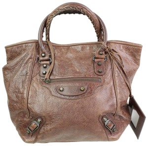 Balenciaga Papier First City Twiggy Town Tote in Brown