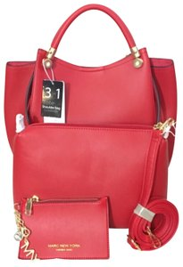 Marc New York Satchel in Dark Red