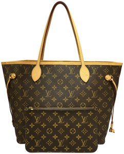 Louis Vuitton Lv Monogram Neverfull Mm Canvas Shoulder Bag