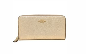 Coach Coach 23554 Accordion Zip Wallet In Polished Pebble Leather 58059