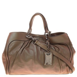 Dolce&Gabbana Dolce And Gabbana Miss Brooke Leather Satchel in Copper