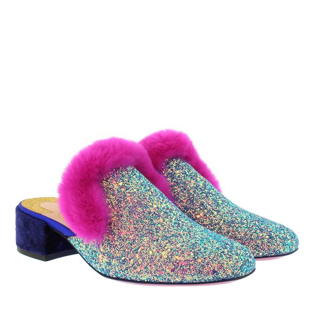 Item - Pink Multi Classic Boudiva 35mm Glitter Fur Slip-on Version Etincelle Mules/Slides Size EU 36.5 (Approx. US 6.5) Regular (M, B)