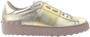 Valentino Sneaker Trainer Metallic Two-tone Gold Athletic