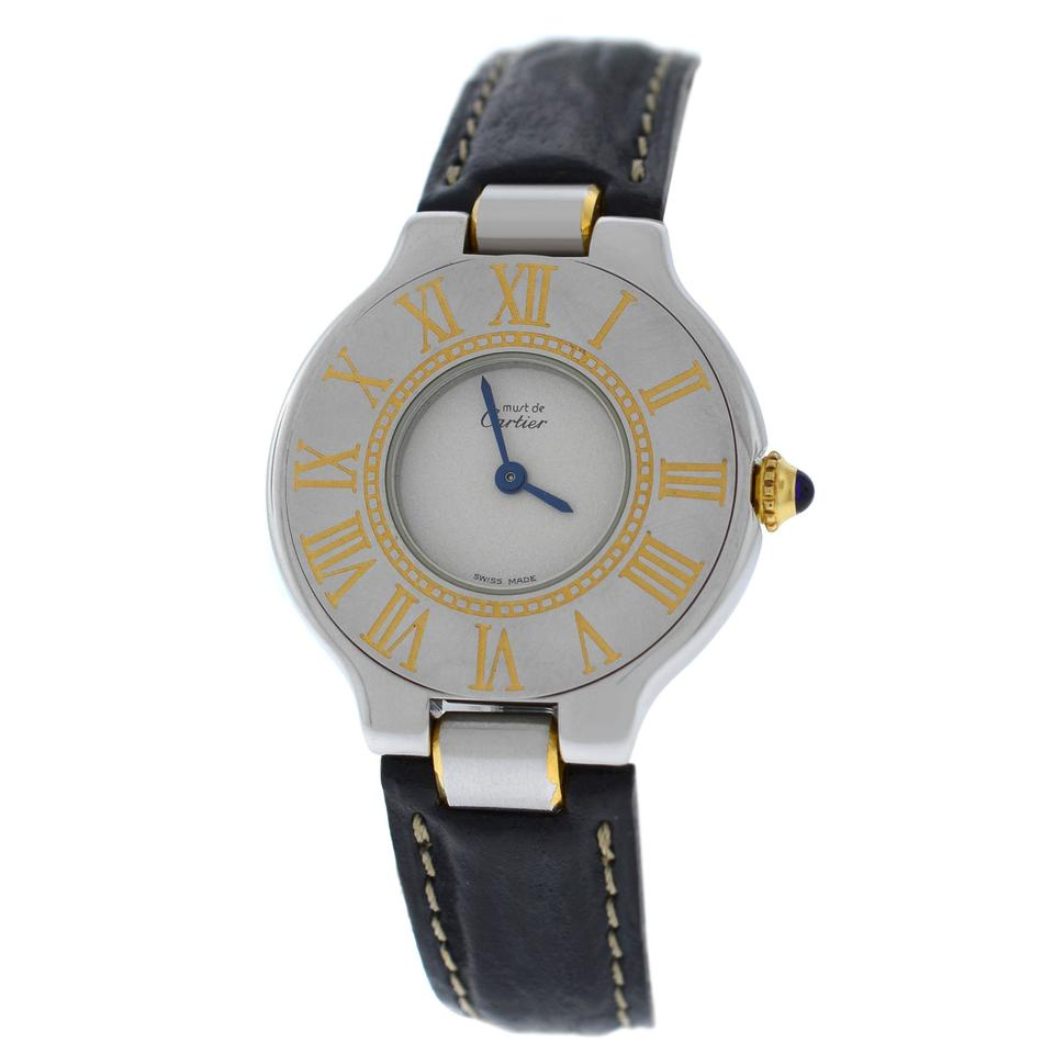 4288348e725 Cartier Ladies Cartier Must de Cartier 21 W1000944 Quartz Steel Gold 28MM  Image 0 ...