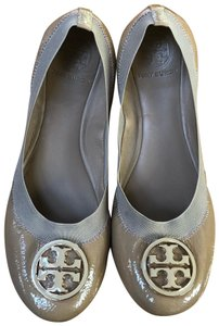 Tory Burch tan, gold Flats