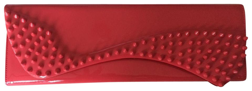 cdec756990c Christian Louboutin Pigalle Pink Patent Leather Clutch 19% off retail