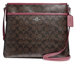 Coach Cross Body File Signature 34938 pink Messenger Bag