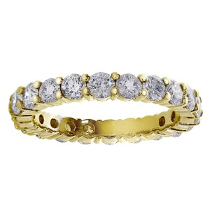 Avital & Co Jewelry Yellow Gold 1.50 Carat Round Diamond Eternity 14k Women's Wedding Band