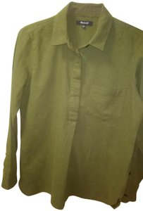 Madewell Button Down Shirt Olive Green