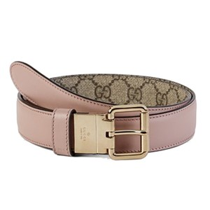 Gucci Gucci Women's Supreme Reversible Leather Canvas Pink/Beige 391271