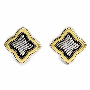 David Yurman DAVID YURMAN Venetian Quatrefoil Earrings in Sterling Silver & Gold