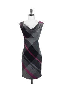Ted Baker short dress Grey/Pink Plaid Wool on Tradesy