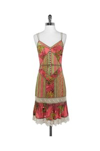 Tracy Reese short dress orange Colorful Silk Lace on Tradesy