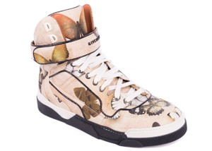 Givenchy Tyson Butterfly Print High Top Sneakers Multicolor Athletic