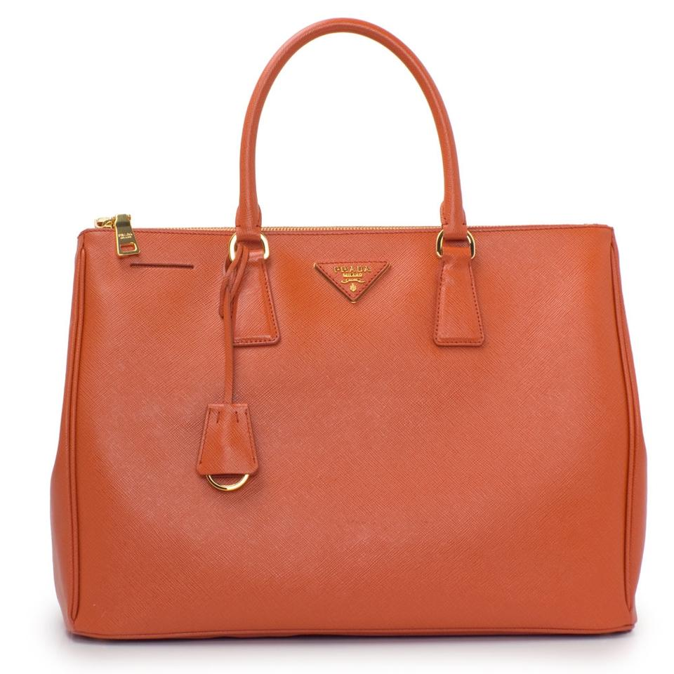 4237b0820c70 Prada Lux Women s Saffiano Bn1786 Orange Leather Tote - Tradesy