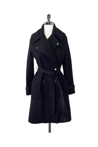 Religion Wool Blend Trench Pea Coat