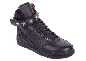 Givenchy Tyson High Top Sneakers Star Studded Multicolor Athletic