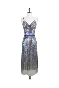 Plenty by Tracy Reese short dress Silver Sequin Tulle on Tradesy
