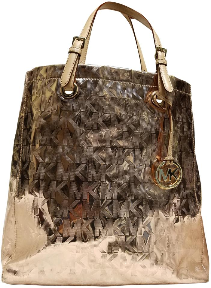 dfa67ffd6ee8 Michael Kors Mk Rose Gold Parent Tote - Tradesy