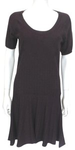 See by Chloé short dress Burgundy sweater dress with a circular textured pattern on Tradesy