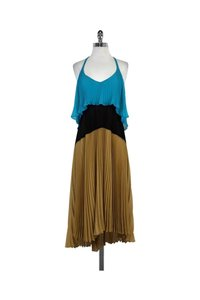 Tracy Reese short dress Teal Black Brown Colorblock on Tradesy