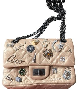 Chanel Double Flap Hermes Mini Charmed Limited Edition Cross Body Bag