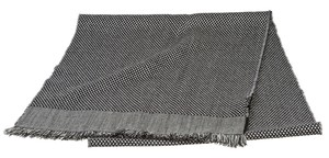 Tom Ford Tom Ford Black and Gray Check Print Fringe Scarf