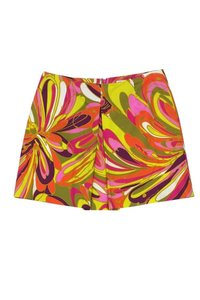MILLY Multicolor Printed Retro Mini Skirt pink