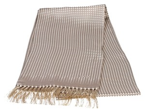 Tom Ford Tom Ford Taupe and Cream Polka Dot Fringe Scarf