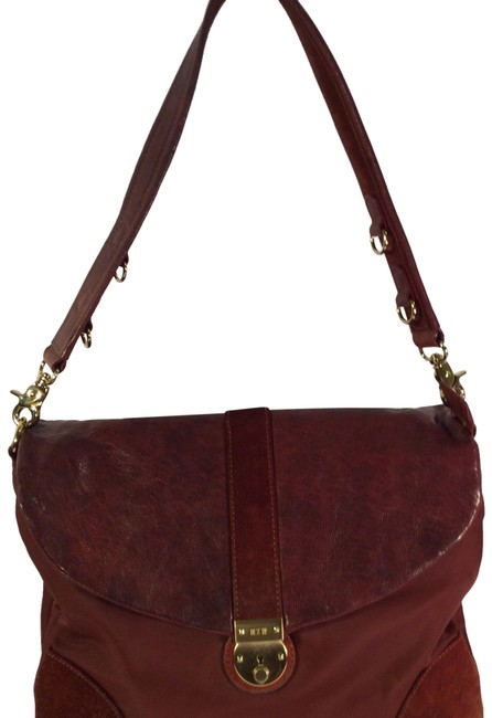 Item - Red Suede Leather Satchel