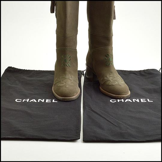 Chanel olive Boots