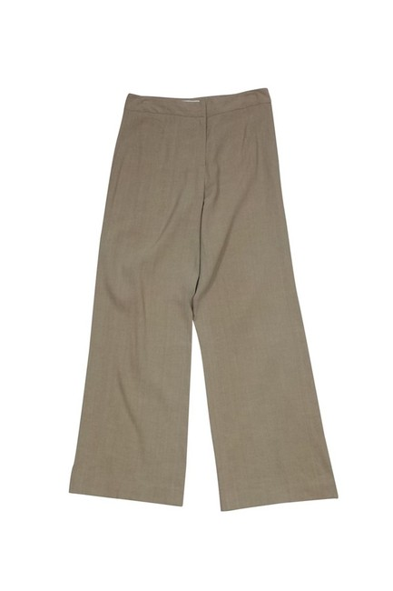 Doncaster Tan Linen Straight Pants