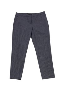 Theory Grey Houndstooth Ankle Straight Pants