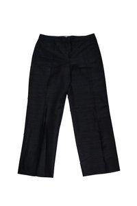Armani Collezioni Silk Straight Pants Black