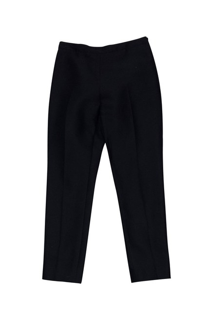 Oscar de la Renta Silk Straight Pants black