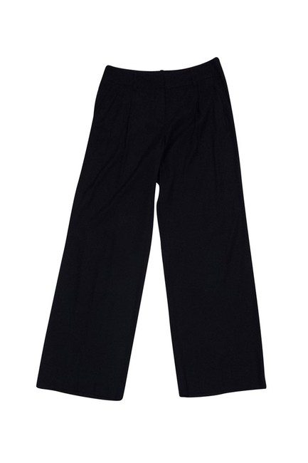 Trina Turk Silk Wide Leg Pants black