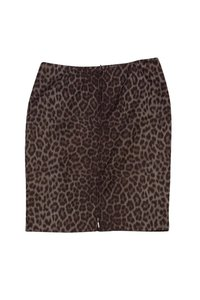 Doncaster Animal Print Pencil Skirt brown