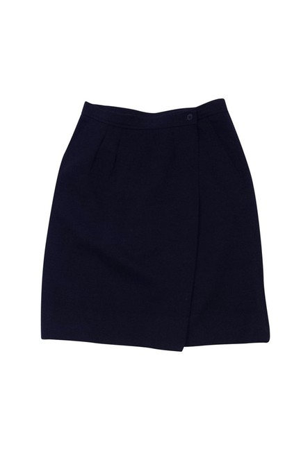 Preload https://img-static.tradesy.com/item/23174111/saint-laurent-blue-knee-length-skirt-size-10-m-0-0-650-650.jpg
