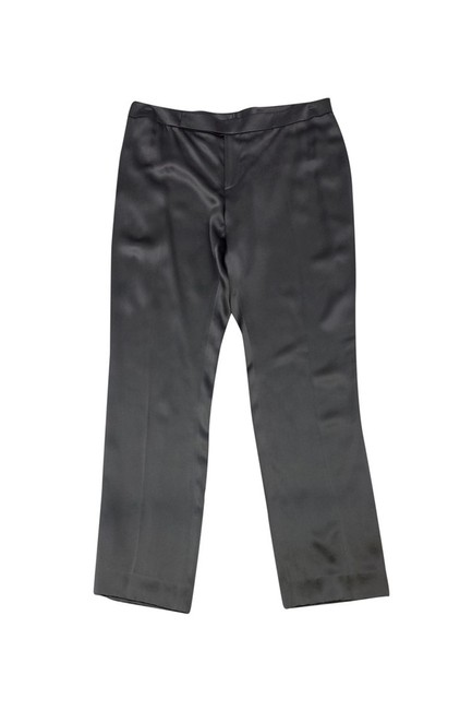 Ralph Lauren Pewter Silk Straight Pants