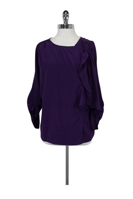 Preload https://img-static.tradesy.com/item/23174134/bcbgmaxazria-purple-blouse-size-4-s-0-0-650-650.jpg