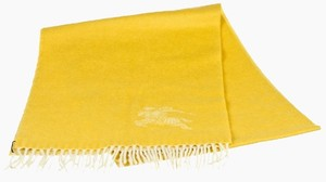 Burberry Burberry Yellow Cashmere Fringe Scarf