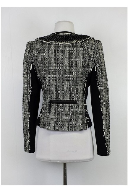 MILLY White Tweed Black Blazer