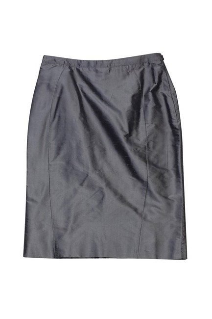 Armani Collezioni Silk Grey Blue Pencil Skirt