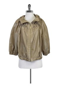 St. John Iridescent Zip Up Tan Jacket